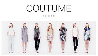 2015年5月、新鋭ファッションデザイナー海澤雅人さんによるエシカルブランド、COUTUME BY HER (クチューム バイ ハー)がローンチ!